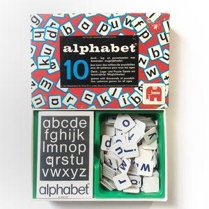 Vintage 40's Dutch Children's Alphabet Game